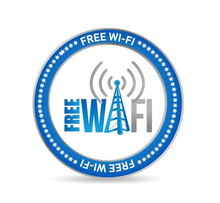 boardcast: free wifi seal concept sign illustration design graphic