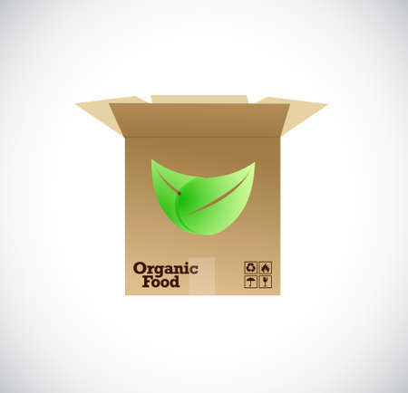 vegetarians: shipping organic food concept illustration design graphic Illustration