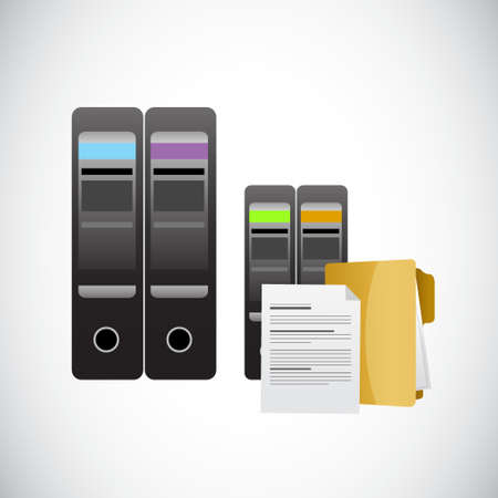 storage: servers and data storage illustration design graphic