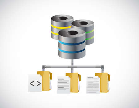storage: code and document storage diagram illustration design graphic Illustration