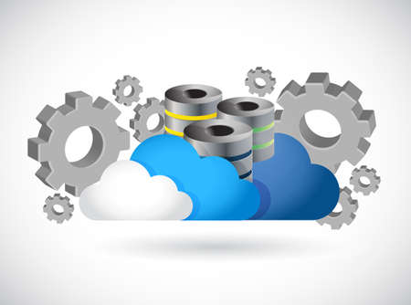 information icon: cloud computing server industry illustration design graphic Illustration