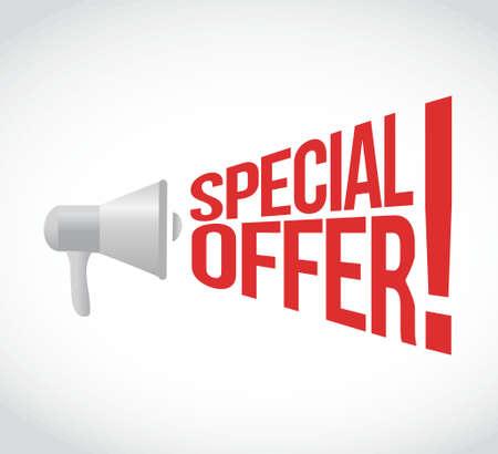 offer: special offer message concept sign illustration design