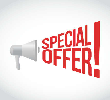 special offers: special offer message concept sign illustration design