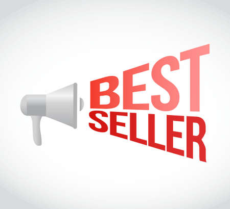 using voice: best seller message concept sign illustration design Illustration