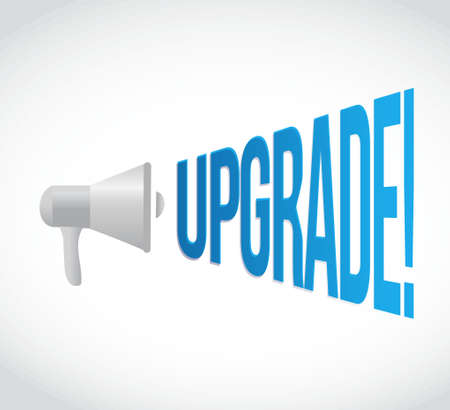 using voice: upgrade message concept sign illustration design graphic