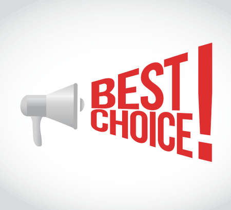 using voice: best choice message concept sign illustration design Illustration