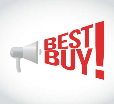 obtain: best buy message concept sign illustration design