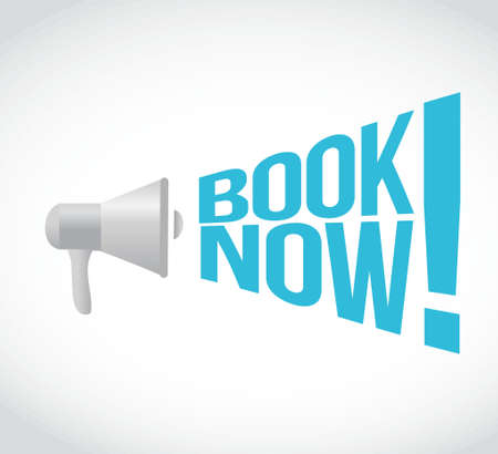 using voice: book now message concept sign illustration design Illustration