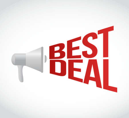 volume discount: best deal message concept sign illustration design
