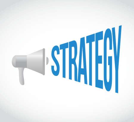 bellowing: megaphone strategy message concept sign illustration design Illustration