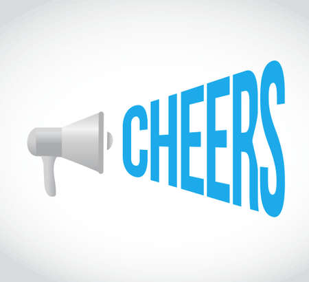 cheer leading: cheers message concept sign illustration design graphic Illustration