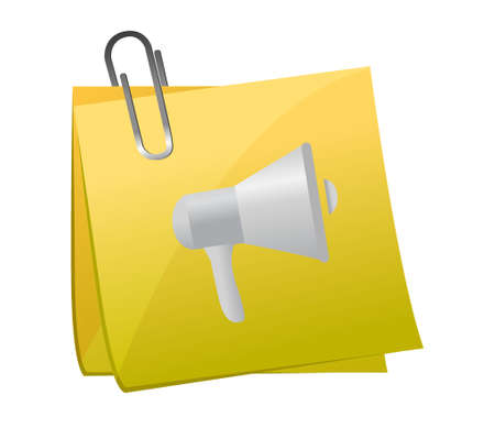 using voice: memo post megaphone illustration design graphic over white Illustration