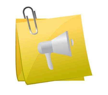 heard: memo post megaphone illustration design graphic over white Illustration