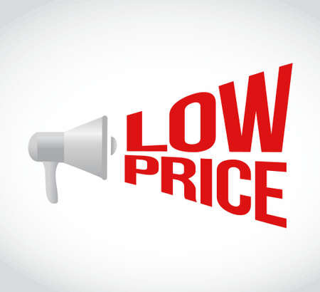 using voice: low price message concept sign illustration design graphic