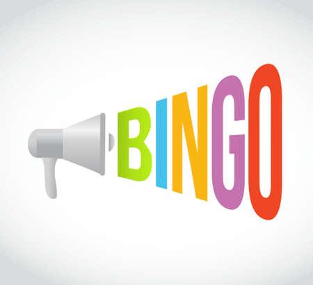 bingo megaphone message at loud. concept illustration design