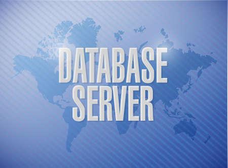 private server: database server world map sign concept illustration design graphic
