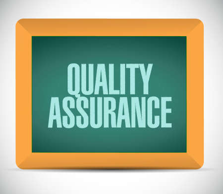 happening: Quality Assurance board sign concept illustration design graphic