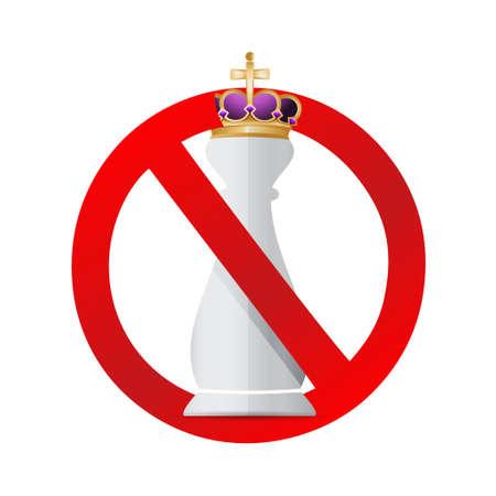 킹 체스 조각입니다. 리더 개념 일러스트레이션 디자인 그래픽 없음 일러스트