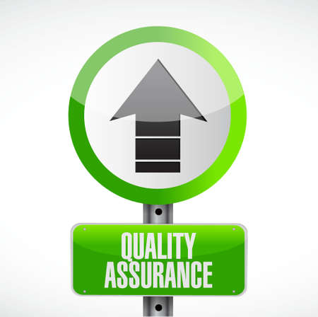 contingency: Quality Assurance road sign concept illustration design graphic