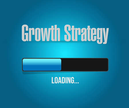 Growth Strategy loading bar sign illustration design graphic