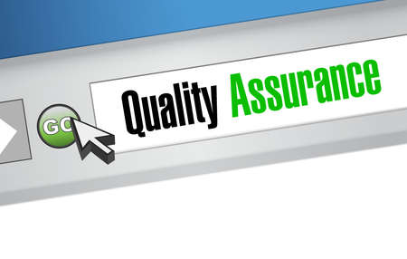 contingency: Quality Assurance website sign concept illustration design graphic