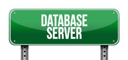 security system: database server road sign concept illustration design graphic