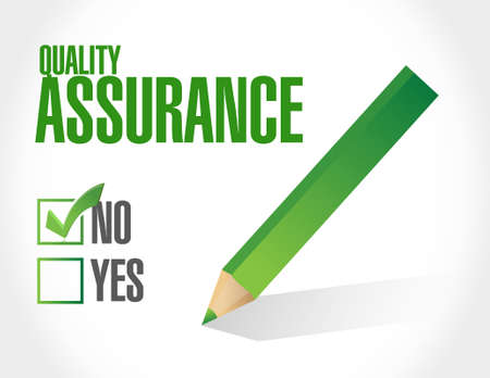 virtue: no Quality Assurance approval sign concept illustration design graphic