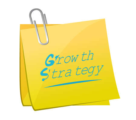 Growth Strategy Memo Post Sign Illustration Design Graphic Royalty