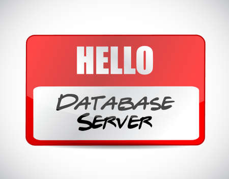 private access: database server name tag sign concept illustration design graphic