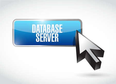 Serveur de base de données signe bouton design graphique illustration Banque d'images - 51864008