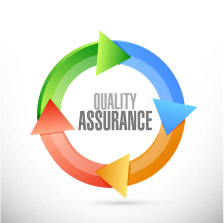 happening: Quality Assurance cycle sign concept illustration design graphic Illustration