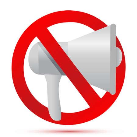 do not use megaphone illustration design isolated over white 向量圖像