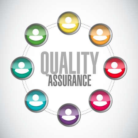 Quality Assurance people diagram sign concept illustration design graphic
