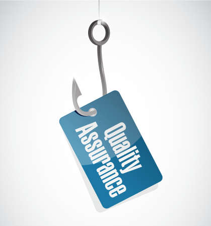 contingency: Quality Assurance hook sign concept illustration design graphic