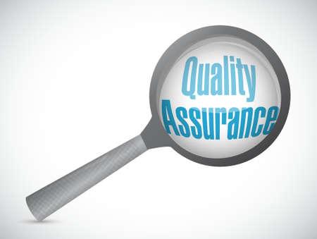 Quality Assurance magnify sign concept illustration design graphic