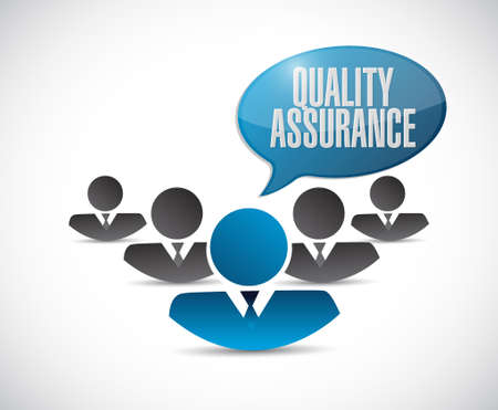virtue: Quality Assurance teamwork sign concept illustration design graphic