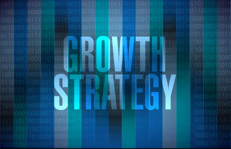 dedicate: Growth Strategy binary sign illustration design graphic