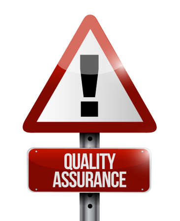 contingency: Quality Assurance warning road sign concept illustration design graphic Illustration
