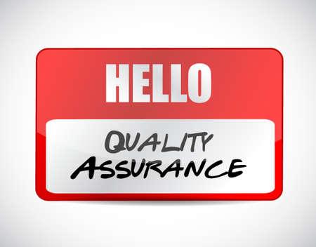 Quality Assurance name tag sign concept illustration design graphic Illustration