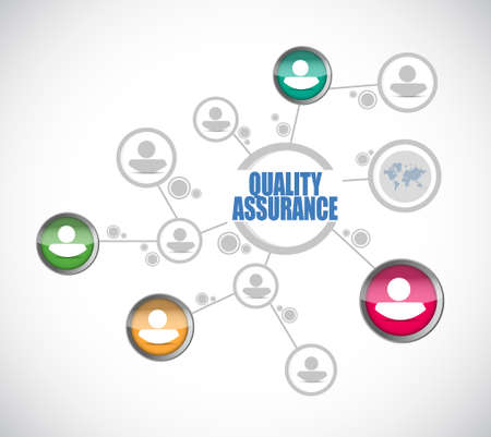 happening: Quality Assurance people diagram sign concept illustration design graphic