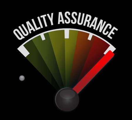 happening: Quality Assurance meter sign concept illustration design graphic