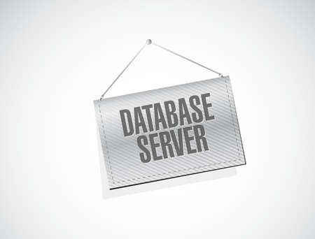 private access: database server banner sign concept illustration design graphic Illustration