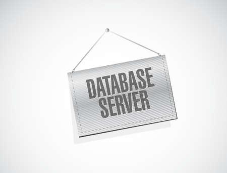 database server banner sign concept illustration design graphic Illustration