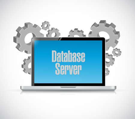 Serveur de base de données signe informatique technologie de conception graphique illustration Banque d'images - 51889242