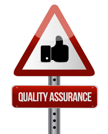 happening: Quality Assurance like warning sign concept illustration design graphic Illustration