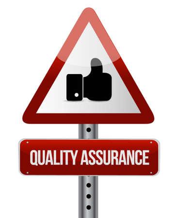 Quality Assurance like warning sign concept illustration design graphic Illustration