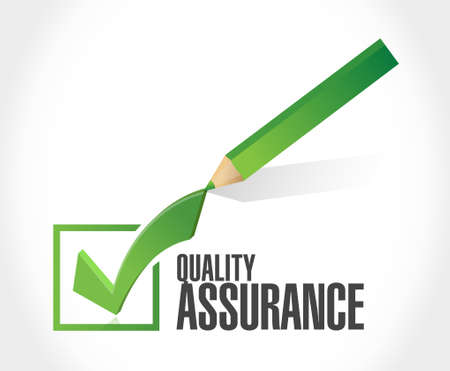 quality check: Quality Assurance check mark sign concept illustration design graphic Illustration