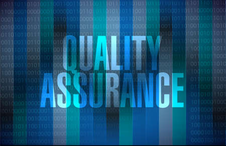 contingency: Quality Assurance binary background sign concept illustration design graphic