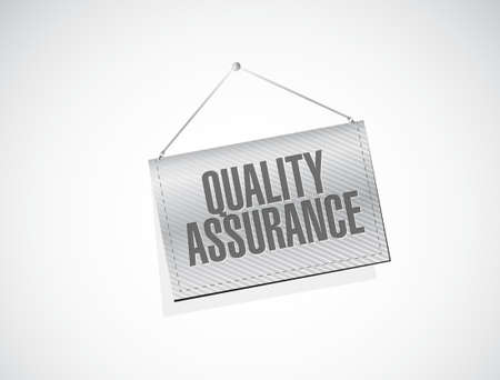 happening: Quality Assurance banner sign concept illustration design graphic