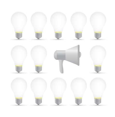 megaphone idea concept illustration design isolated over white